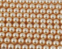 6mm SWAROVSKI® ELEMENTS Gold Crystal Pearl Beads - 50 pearls for jewellery making, beadwork and craft